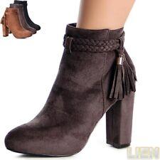 femmes Plateforme bottines cheville talon En bloc bottes escarpins