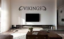 WIDNES Vikingos Rugby Pared Arte Pegatina, Calcomanía, superficies planas, Vinilo Coche, Vidrio