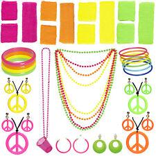 80er Accessoires neon 80s pink grün Achtziger Aerobics Schmuck Fasching Karneval