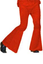 Rote Schlaghose Männer dunkelrote Hose mit Schlag für Mottoparty 70er 80er Jahre