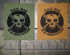 Class War DIY Patch - Crust Punk Anarcho Choking Victim Amebix Social Distortion