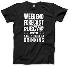 Weekend previsione-Rugby con una possibilità di bere Uomo Unisex T-shirt