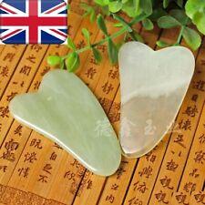 Gua Sha Facial Care Massage Treatment Natural Jade Board Scraping Tool Salon UK