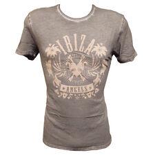Officiel Ibiza Angels T-shirt homme logo classique vintage Champignon Brun RRP £ 60