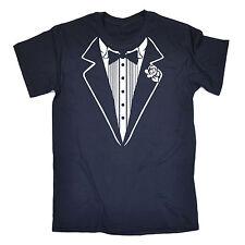 Tuxedo White MENS T-SHIRT birthday fancy dress costume ideas funny gift