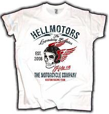 Herren Motorrad Biker T-shirt V-twin Rocker Skull Tattoo Motiv King Bis 5xl Men's Clothing