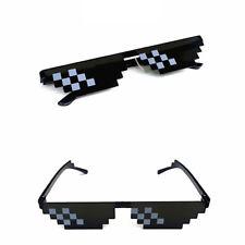 1x Cool Thug Life Glasses Unisex Mosaic 8 Bit Pixel Deal With IT Sunglasses Mlg