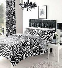Zebra Skin Print Reversible Duvet Cover Set - Double King Zebra Print