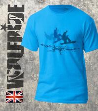 Snow Boarding-T-shirt, Board afferra SNOW BOARD TEE morbida stampa sfumata