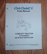 CUB CADET 6000 & 7000 SERIES 626 60 IN REAR BLADE PARTS MANUAL