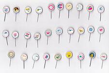 Vintage plastic AIRLINE pin badges 1960s by Berentzen Maastricht