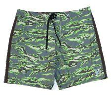 Hurley Phantom Flammo Tiger Green 4-Way Stretch Boardshorts Swim Trunks Mens NWT