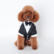 Pet Dog Cat Clothing Wedding Suit Tuxedo Bow Tie Puppy Clothes Coat S-XXL