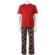 New Men's Sonoma Pajama Set  Red Tee + Microfleece Lounge Pants Size XL MSRP $40