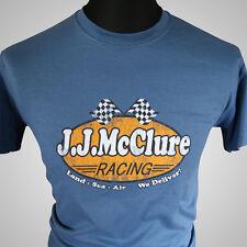 J J Mcclure Racing Retro Movie T Shirt la Cannonball Run Burt Reynolds