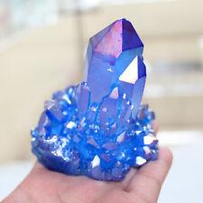 Crystal Cluster Specimen Healing Stone 200/300/500g A+ Rare Blue Aura Quartz