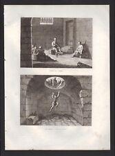 Divers type de prison pour le supplice des infideles GRAVURE DE 1844
