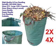 8X 4X Foldable Reusable Lawn Garden Waste Leaf Grass Bag Utility Sack Bin Yard