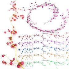 130cm Branching Coloured Crystal Garland! Wired Crystal Drop Bridal Spray