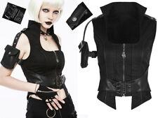 Haut gilet veste gothique punk steampunk pochette sangles transformable Punkrave