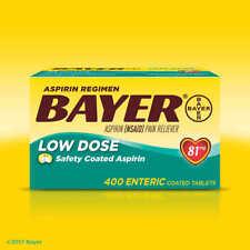 Aspirin Regimen Bayer - 81mg - Relieves Minor Aches & Pain NSAID - Pain Reliever