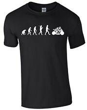 Motorrad Evolution Motorradfahren T-Shirt Herrenshirt Männer biken Bike S393