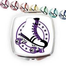 Retro Roller Skate Compact Mirror, Roller Derby Gift, Roller Skate Gift,80s gift