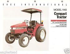Farm Tractor Brochure - Case IH - 1140 - Compact - c1990's (FB341)