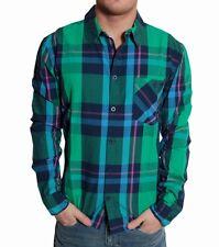 RVLT REVOLUTION Kirk Shirt Camicia VERDE A QUADRI MANICA LUNGA dayshirt Green checked a quadri