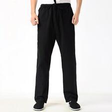 De hombre de Algodón Pantalones Kung Fu Tai Chi Pantalones de ejercicio práctica informal estilo chino