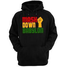 MASH DOWN BABYLON BLACK HOODIE (Gildan Brand reggae dub roots jah rasta marley)