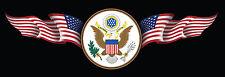 USA American Flag Eagle Decal Car Window Laptop Map Vinyl Sticker