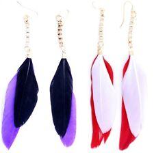 cuelga los pendientes de plumas colgantes súper bonitas , múltiples opciones