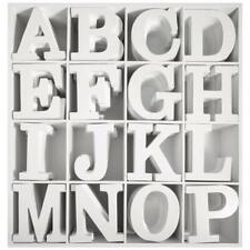 MDF- Buchstabe, weiß, 11cm, Stärke 2cm
