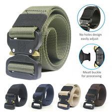 Men Canvas Belt Outdoor Tactical Heavy Duty Army Waist Belts Web Strap Waistband