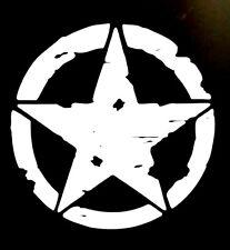 "DISTRESSED MILITARY STAR VINYL DECAL STICKER 8"",10"",12"",15"""