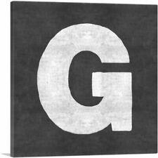 ARTCANVAS Chalkboard Alphabet Letter G Canvas Art Print