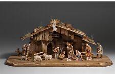 Nativity set 15 pcs. with hut, woodcarvings for Nativity set mod. 912