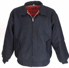 Heavy Duty marineblau Wolle Harrington Jacke `s