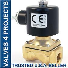 "3/8"" Electric Solenoid Valve 12-Volt DC 12VDC Viton Seal Water Air Diesel B21V"