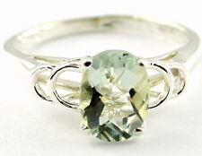 • SR300, Green Amethyst, 925 Sterling Silver Ladies Ring -Handmade