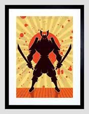 La pittura illustrazione stilizzato SAMURAI SPADA GUERRIERO Framed Art Print b12x13625