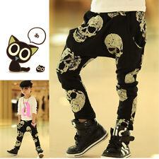 Kids Boys Girls Golden skulls Printed Harem Trousers Children Autumn Pants