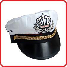 WHITE CAPTAIN HAT-PILOT,AIR FORCE,MILITARY,NAVY,YACHT,SKIPPER,SAILOR-COSTUME