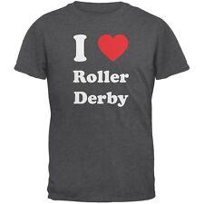 I Heart Roller Derby Dark Heather Adult T-Shirt