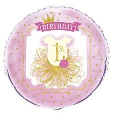 rose & or 1st anniversaire 45.7cm Film Ballon en aluminium Décoration pour fête
