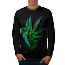 Marijuana Butterfly Men Long Sleeve T-shirt NEW | Wellcoda