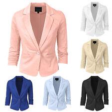 NE PEOPLE Women's 3/4 Sleeve Casual Blazer S-3XL (6 Colors) NEWJ100