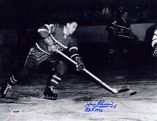 Jean Beliveau SIGNED 11x14 Photo + HOF 1972 Canadiens PSA/DNA AUTOGRAPHED