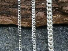 Cadena Trenzada Collar Plata Auténtica 925 Cadena de Plata Unisex